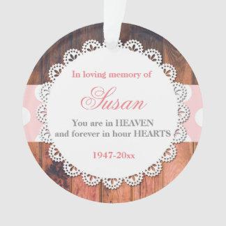 Rose en bois rustique commémoratif d'ornement de