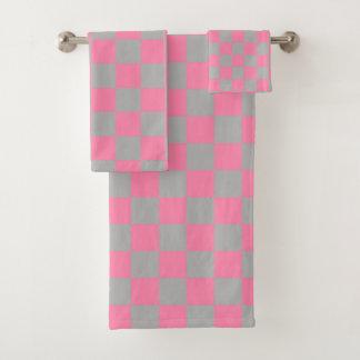 Rose et argenté Checkered
