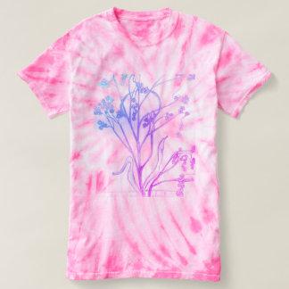 rose et blanc de T-shirt de colorant de cravate de