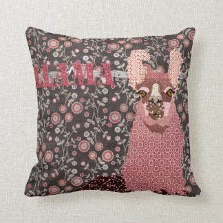 Rose et Brown Mojo floral vintage Pillo de lama Oreiller