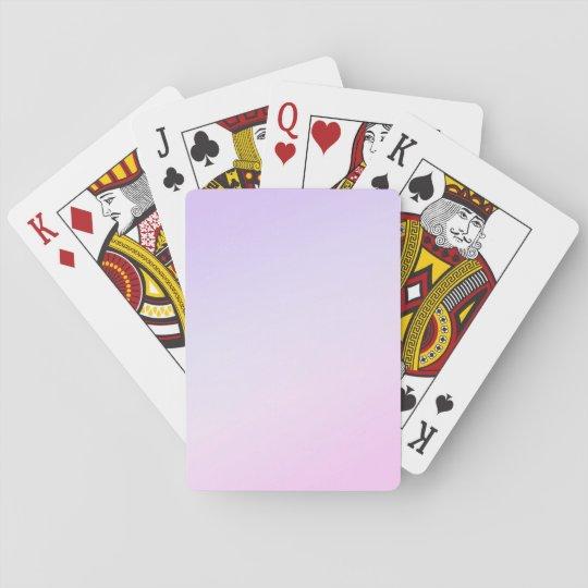 Rose et cartes de jeu pourpres jeux de cartes