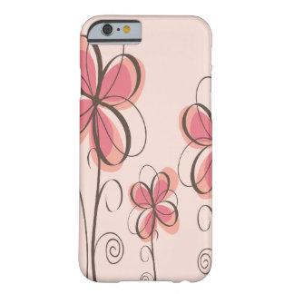 Rose et conception de fleurs de griffonnage de coque barely there iPhone 6