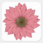 Rose et marguerite de Brown Sticker Carré