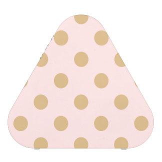 Rose et motif de point de polka d'or haut-parleur bluetooth