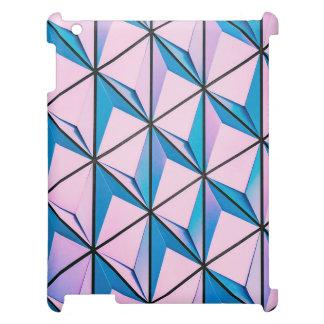 Rose et motif géométrique bleu coque pour iPad