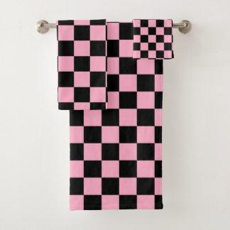 Rose et noir Checkered