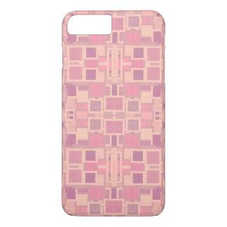 Rose et pêle-mêle géométrique de crème coque iPhone 7 plus