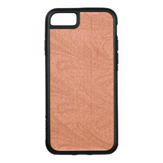 Rose et remous d'en cuivre coque iphone 7 en bois