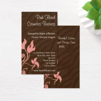 Rose et remous floral de Brown Cartes De Visite