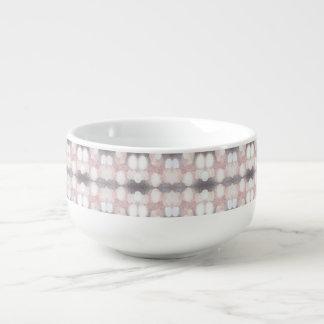 Rose et scintillement gris regardant le motif mug à soupe