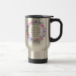 Rose et tasse florale pourpre de voyage de 29:11