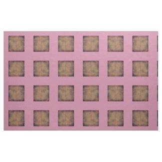 Rose et tissu de tuile de Brown