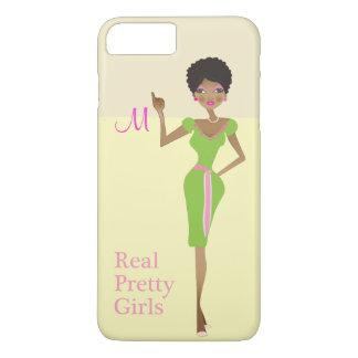 Rose et vert de la vie de filles coque iPhone 7 plus