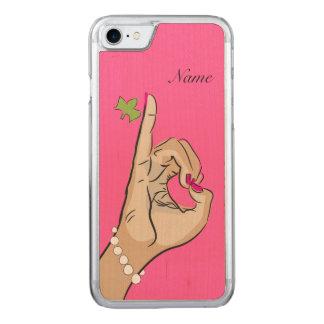 Rose et vert parfaits coque en bois iPhone 7