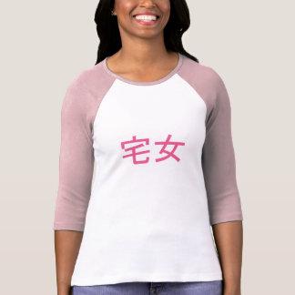Rose femelle de T-shirt d'Otaku