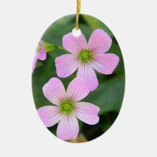 rose-fleur ornement ovale en céramique