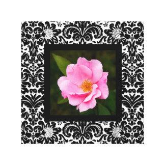 Rose floral rétro BW de rose d'impression de toile Impression Sur Toile