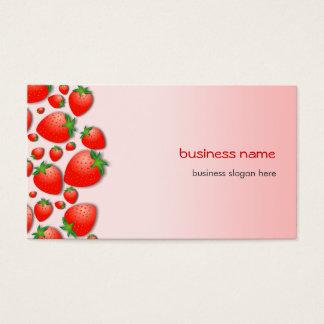 Rose frais de fraise cartes de visite