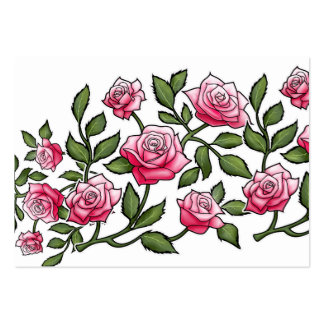 Rose frais de rose floral carte de visite grand format