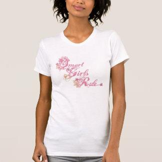 Rose futé de règle de filles t-shirt