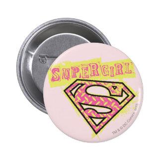 Rose grunge de logo de Supergirl Badge