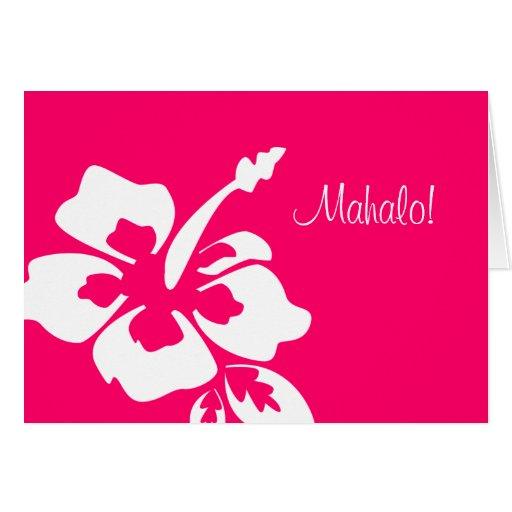 Rose hawaïen de ketmie de cartes de Merci de maria