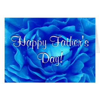 Rose heureux de bleu de fête des pères carte de vœux