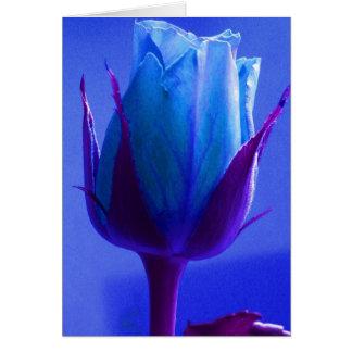 Rose heureux de bleu de fête des pères II Carte De Vœux