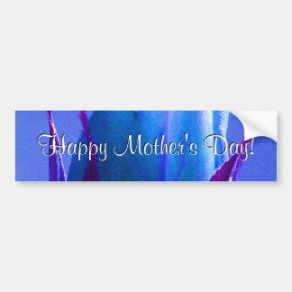 Rose heureux de bleu du jour de mère adhésifs pour voiture