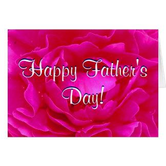 Rose heureux de rose de fête des pères carte de vœux