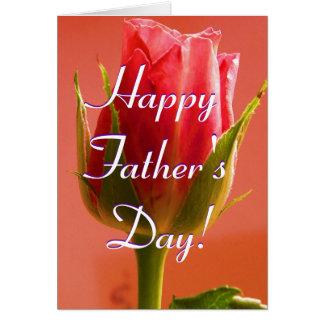Rose heureux de rose de fête des pères I Carte De Vœux