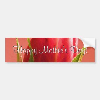 Rose heureux de rose du jour de mère I Autocollants Pour Voiture
