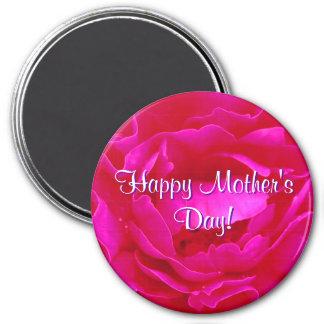 Rose heureux de rose du jour de mère magnets pour réfrigérateur