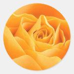 Rose jaune autocollant rond