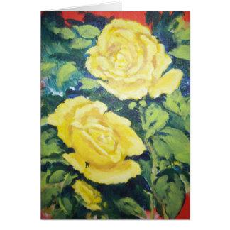 rose jaune cartes de vœux