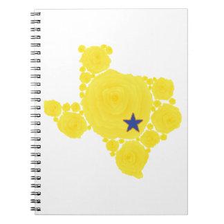 Rose jaune d'étoile bleue de TX Carnets