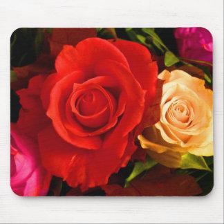 Rose jaune rouge I Tapis De Souris