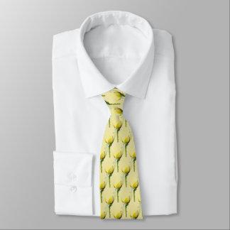 Rose jaune simple carrelé cravates
