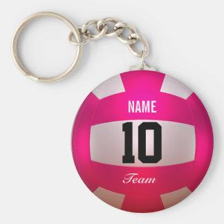 Rose lumineux de volleyball de personnaliser porte-clés