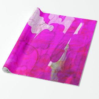 rose métallique brillant de couleurs, papier papier cadeau