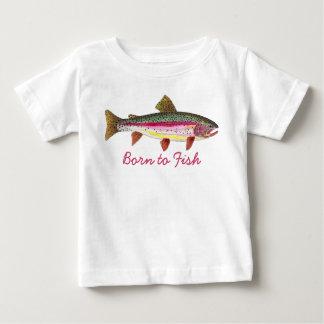 """Rose mignon """"soutenu pour pêcher"""" la pêche de t-shirt pour bébé"""