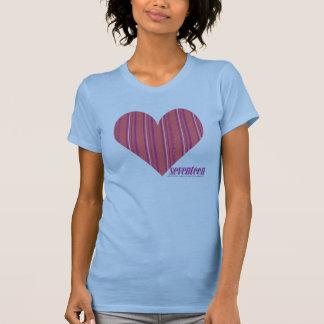 Rose mince 3 de rayures t-shirt