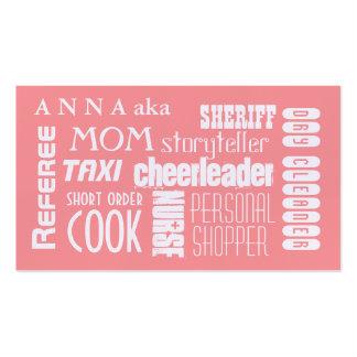 Rose moderne de télécarte de maman cartes de visite personnelles