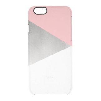 rose moderne élégant d'aluminium argenté de faux coque iPhone 6/6S