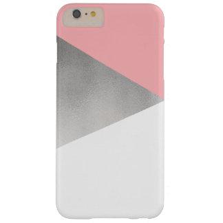 rose moderne élégant d'aluminium argenté de faux coque iPhone 6 plus barely there