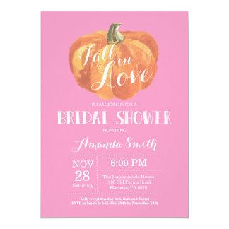 Rose nuptiale de carte d'invitation de douche de carton d'invitation  12,7 cm x 17,78 cm