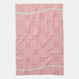 Rose, or, et serviette de thé de perle serviette pour les mains