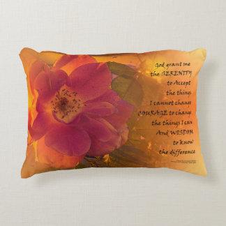 Rose orange de rose de prière de sérénité coussins décoratifs