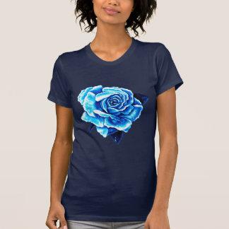 Rose peint de bleu t-shirt