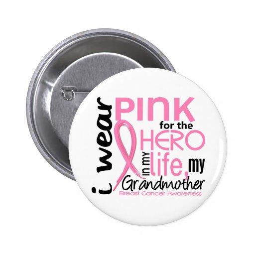 Rose pour le héros dans le cancer du sein de grand pin's avec agrafe